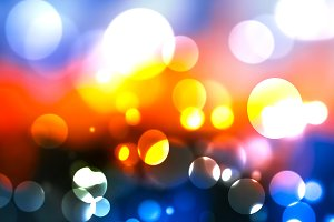 Festive Colorful bokeh background.