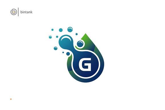 Pure Drop Water G Logo