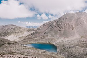 Space Lake in Mountains of Caucasus