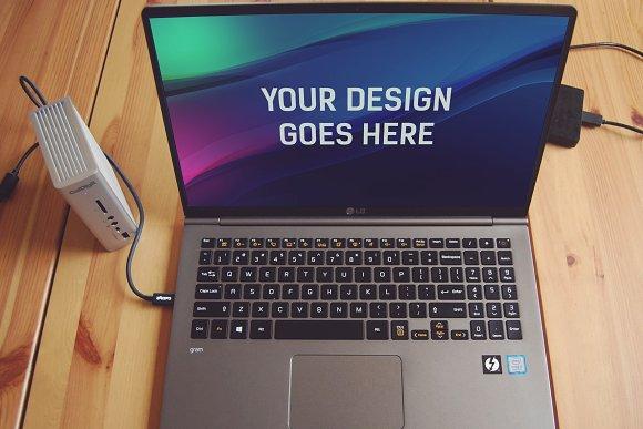 Laptop Display Mock-up #11