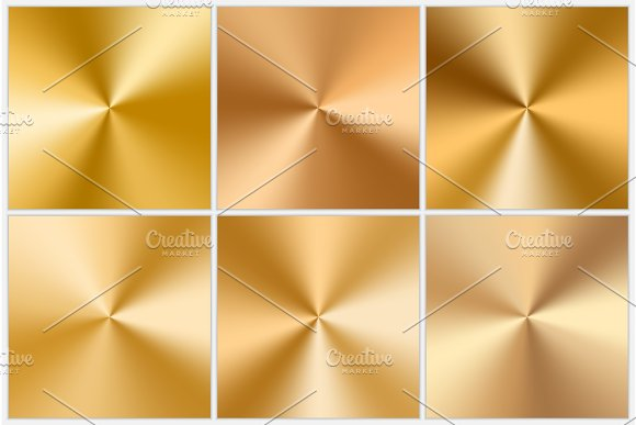 Collection Of Golden Conic Gradients