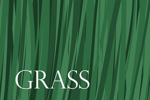 Vector grass banner background.