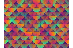 Colorful background with multi-colored circles