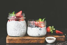 Chia pudding with fresh berries by Vladislav Nosick in Food & Drink