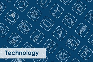 49 TECHNOLOGY simple icons