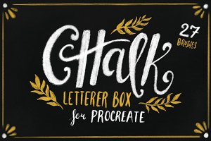 Chalk Letterer Box for Procreate