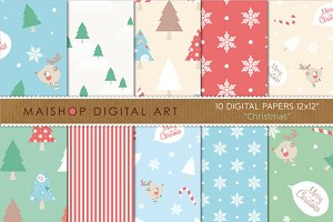Digital Papers - Christmas