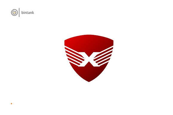 Shield X Letter Logo