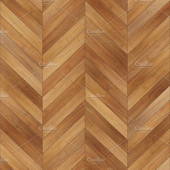 Seamless Wood Parquet Texture Chevron Light Brown
