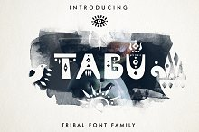 Tabu - Tribal Font Family by Victoria Strukovskaya in Display Fonts