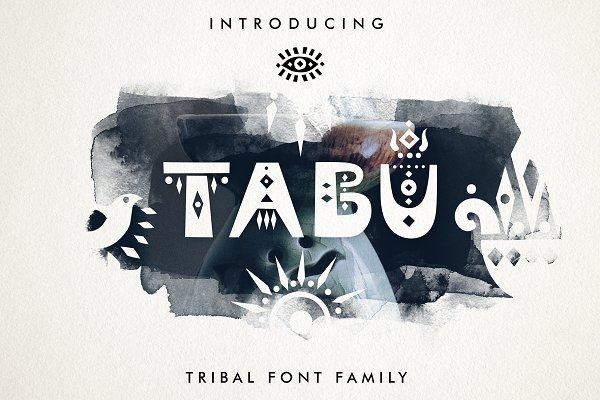 Display Fonts: Struvictory.art - Tabu - Tribal Font Family