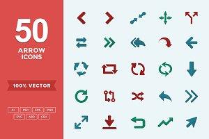 Flat Icons Arrows Set