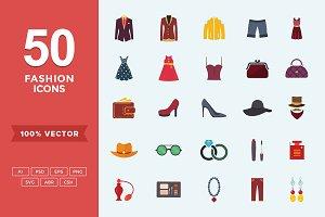 Flat Icons Fashion & Apparel