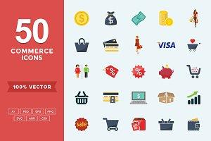 Flat Icons Commerce Set