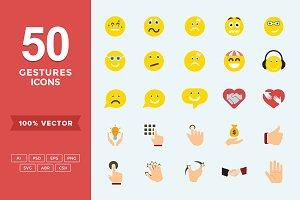 Emojis/Hand Gestures Flat Icons