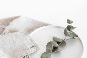 Eucalyptus Plate Farmhouse Style