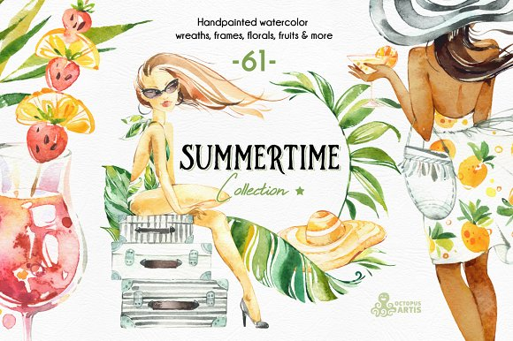 Summertime Watercolor Collection