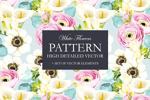 White Flowers Pattern