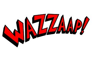 Wazzaap word comic book pop art vector