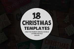 18 Chruch & Christmas Flyers Bundle