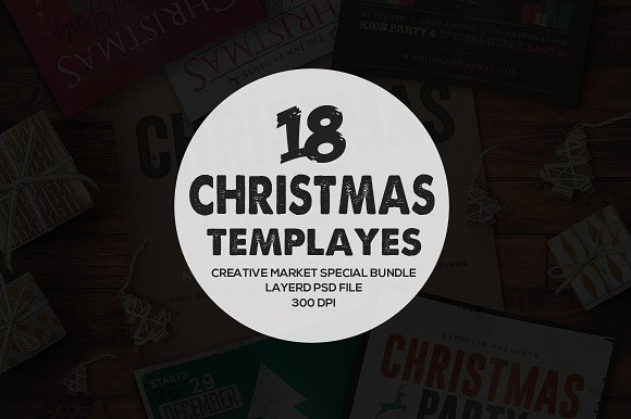 18 Chruch Christmas Flyers Bundle