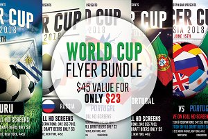 Football World Cup Flyer Bundle