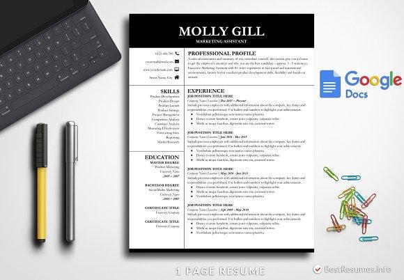 Modern Resume Template Google Docs ~ Resume Templates ~ Creative Market