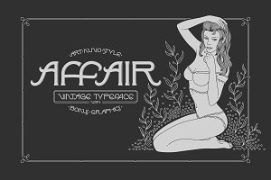 Affair Typeface & Graphics