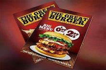 Burger Fast Food Menu Restaurant PSD