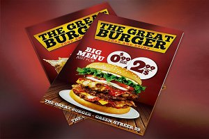 Burger Fast Food Menu Restaurant PSD