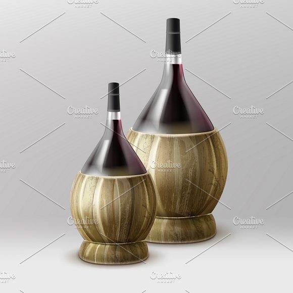 Two Fiasco Bottles Of Wine