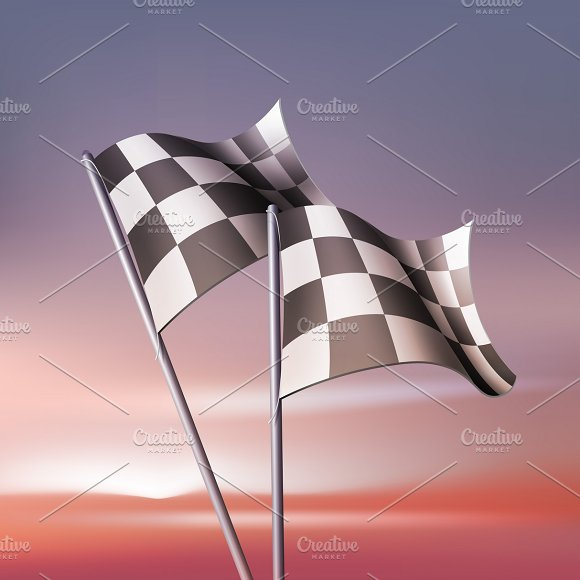 Checkered Flags For Fan