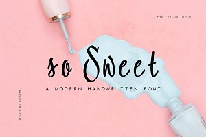 so Sweet - Handwritten Font