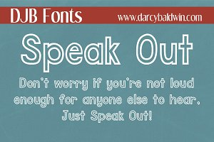 DJB Speak Out Font