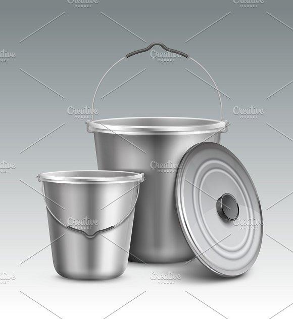 Big And Small Metal Buckets