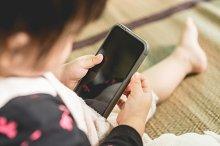 Baby use smartphone