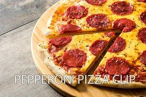 Pepperoni pizza clip