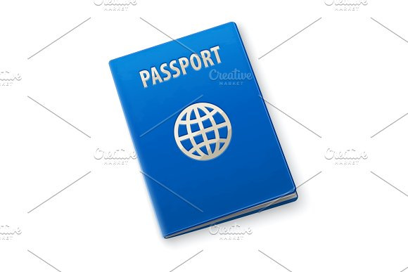 International Passport With Blue Cover