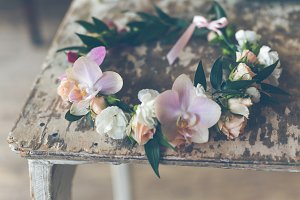 Beautiful handmade floral wreath