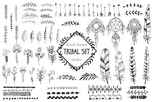Tribal elements, wreaths, patterns