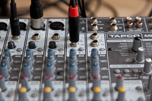 Audio studio sound mixing equalizer