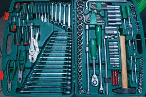 various tools for car repair