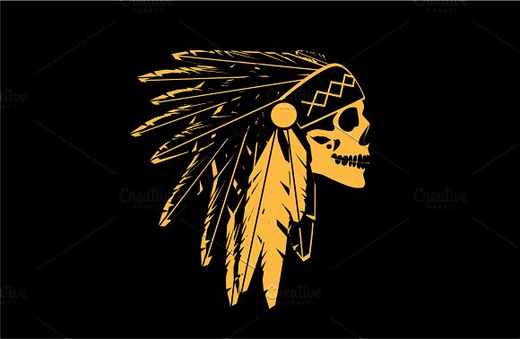 American Indian Skull Icon