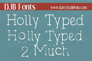 DJB Holly Typed Font Set