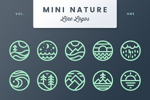Mini Nature Line Logos - Volume 1
