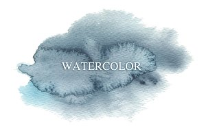 Abstract watercolor and ink blot
