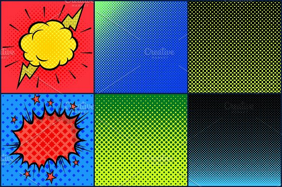 Superhero Comic Pop Art Megapack in Patterns - product preview 2