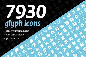7930 Glyph Icons