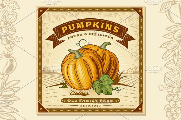 Pumpkin Harvest Label