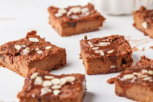 Vegan sweet potato brownie